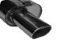 Endschalldämpfer mit Einfach-Endrohr Flat LH 135 x 75 mm