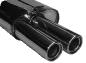 Endschalldämpfer mit Doppel-Endrohr LH 2 x Ø 90 mm