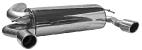 Endschalldämpfer mit Einfach-Endrohr LH + RH, 1 x Ø 90 mm, 20° schräg, mit Lippe