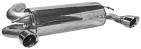 Endschalldämpfer mit Einfach-Endrohr LH + RH, 1 x Ø 90 mm, 30° schräg im RACE-look