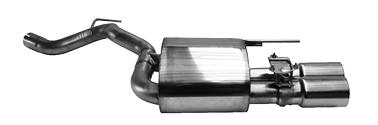 Endschalldämpfer mit Doppel-Endrohr 2 x Ø 90 mm LH (im RACE-Look) mit Abgasklappe