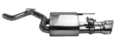 Endschalldämpfer mit Doppel-Endrohr 2 x Ø 90 mm LH 30° schräg (im RACE-Look) mit Abgasklappe