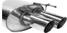 Endschalldämpfer mit Doppel-Endrohr RH 2 x Ø 76 mm