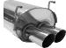 """Endschalldämpfer mit Doppel-Endrohr 2 x Ø 76 mm Civic mit """"Typ R"""" Spoilerkit"""