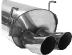 """Endschalldämpfer DTM mit Doppel-Endrohr 2 x Ø 76 mm Civic mit """"Typ R"""" Spoilerkit"""