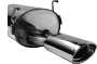 Endschalldämpfer mit Einfach-Endrohr 120 x 80 mm