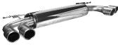 Endschalldämpfer mit Doppel-Endrohr LH + RH 2 x Ø 90 mm mit Lippe, 20° schräg geschnitten