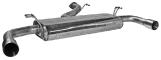 Endschalldämpfer mit Einfach-Endrohr Ø 100 mm LH + RH (im RACE Look)