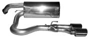 Endschalldämpfer mit Doppel-Endrohr, 2 x oval 105 x 75 mm, Ausgang Mitte