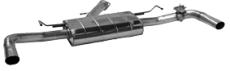 Endschalldämpfer mit Einfach-Endrohr 1xØ63mm LH+RH, für Serienabgasklappe