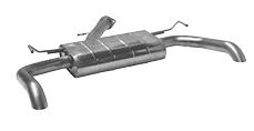 Endschalldämpfer mit Einfach-Endrohr 1xØ63mm LH+RH