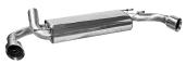 Endschalldämpfer mit Einfach-Endrohr LH +RH 1 x Ø 100 mm, 30° schräg geschnitten (im RACE Look)