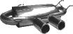 Endschalldämpfer mit 2 Endrohren Ø 90 mm Ausgang mittig