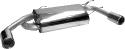 Endschalldämpfer mit 2 Endrohren Ø 90 mm Ausgang seitlich