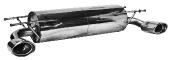 Endschalldämpfer mit 2 Endrohren oval LH+RH 120 x 80 mm MX5 NC Facelift