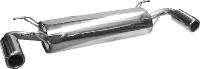 Endschalldämpfer querliegend mit 2 Einfach-Endrohren Ø 100 mm (im Audi TT-Armaturendesign)