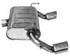Endschalldämpfer mit Einfach-Endrohr Oval LH + RH 20° schräg mit Lippe 105 x 75 mm
