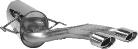 Endschalldämpfer mit 2 Endrohren Oval 120 x 80 mm Ausgang mittig Astra H Turbo (außer OPC) inkl. GTC
