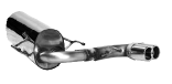 Endschalldämpfer mit Doppel-Endrohr 2 x Ø 76 mm Astra H OPC
