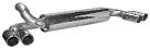 Endschalldämpfer mit Doppel-Endrohr mit Lippe 20° schräg geschnitten Ausgang LH + RH 2 x Ø 76 mm