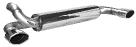 Endschalldämpfer mit Einfach-Endrohr oval Ausgang LH + RH 120 x 80 mm