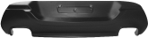 Heckschürzeneinsatz mit Ausschnitt für 2 x Doppel-Endrohr LH+RH, Schwarz matt, lackierfähig