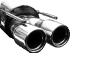 Endschalldämpfer mit Doppel-Endrohr 2 x Ø 90 mm