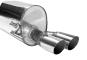 Endschalldämpfer mit Doppel-Endrohr 2 x Ø 70 mm, 20° schräg geschnitten