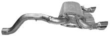 Endschalldämpfer mit Einfach-Endrohr 1 x Ø 90 mm  LH+RH 30° schräg geschnitten (im RACE-Look)