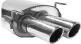 Endschalldämpfer mit Doppel-Endrohr mit Lippe LH 2 x Ø 76 mm