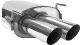 Endschalldämpfer mit Doppel-Endrohr LH 2 x Ø 76 mm
