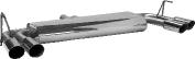 Endschalldämpfer mit Doppel-Endrohr 2 x Ø 76 mm