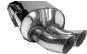 Endschalldämpfer mit Doppel-Endrohr DTM 2 x Ø 70 mm