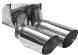 Endschalldämpfer mit Doppel-Endrohr 2 x Ø 63 mm 307 Coupé-Cabrio