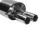 Endschalldämpfer mit Doppel-Endrohr 2 x Ø 70 mm