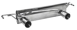 Endschalldämpfer mit Einfach-Endrohr LH + RH, 1 x Ø 85 mm (im RACE Look)