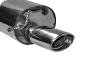Endschalldämpfer mit Einfach-Endrohr oval 120 x 80 mm