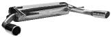 Endschalldämpfer mit Einfach-Endrohr 1x Ø 76 mm eingerollt 20° schräg geschnitten LH+RH Renault Clio 3 RS nicht Facelift