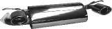 Sportauspuffanlage mit 2 Endrohren oval 120 x 80 mm mit Einsatz