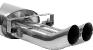 Endschalldämpfer mit Doppel-Endrohr DTM mittig 2 x Ø 63 mm