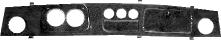 Armaturenbrett Wurzelholz mit Ausschnitt für Rundinstrumente 2 x Ø 80 mm 3 x Ø 52 mm