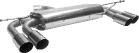 Endschalldämpfer mit Doppel-Endrohr 2 x Ø 76 mm LH + RH 20° schräg geschnitten Altea 5P + Leon 1P