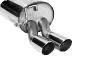 Endschalldämpfer mit Doppel-Endrohr 2 x Ø 70 mm 20° schräg geschnitten Ibiza 6J (außer Cupra Turbo 132 KW)