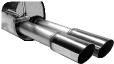 Endschalldämpfer mit Doppel-Endrohr 2x Ø 76 mm