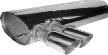 Endschalldämpfer querliegend mit Doppel-Endrohr 2 x Ø 76 mm