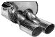 Endschalldämpfer mit Doppel-Endrohr 2 x Ø 70 mm Fahrzeuge ohne Orig. Heckschürzenausschnitt