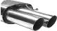 Endschalldämpfer mit Doppel-Endrohr 2 x Ø 76 mm, 20 °  schräg geschnitten