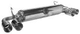 Endschalldämpfer mit Doppel-Endrohr 2 x Ø 90 mm (im RACE-Look) LH + RH