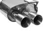 Endschalldämpfer mit Doppel-Endrohr 2 x Ø 85 mm (im RACE-Look) LH links