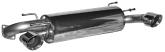 Endschalldämpfer mit Einfach-Endrohr 30° schräg geschnitten Ø 100 mm LH + RH (im RACE Look)